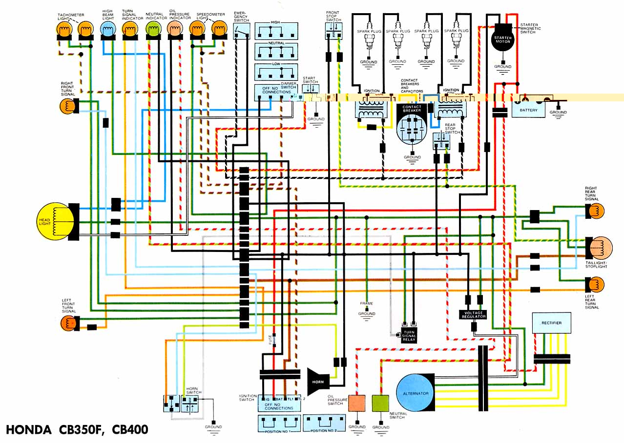 Honda Cb F Electrical Wiring Diagram on Honda Motorcycle Wiring Color Codes