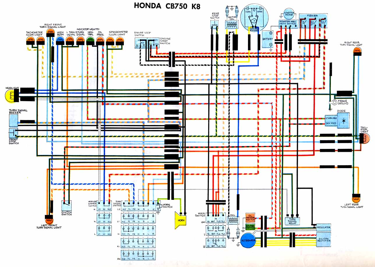 Index Of Mustang Fuse Wiring Diagrams Page 18 Honda Cb750k8 Diagram